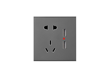 五孔带双USB