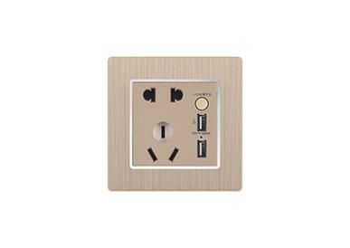 二、三极插座/二、三极带 两位USB插座