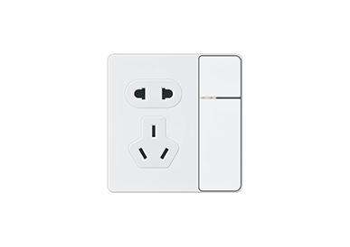 一位单控开关带二、三极插座/一位双控开关带二、三极插座