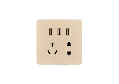 二、三极插带三位USB插座2.1A