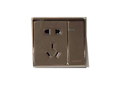 一位单控开关带二、三极插座